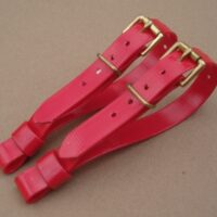"""3/4"""" Red Biothane Terrier Couple Collars"""