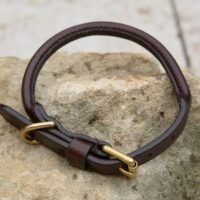 "5/8"" Rolled Leather Collar - 12"" Neck Size"