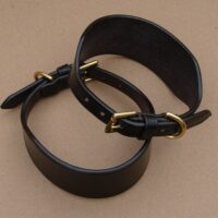 "Lurcher Collar 3/4"" Buckle, Leather Keeper"