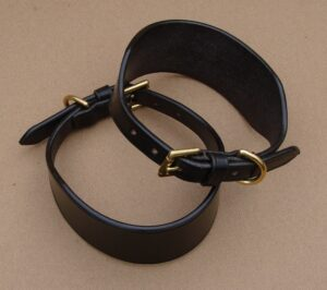 """Lurcher Collar 3/4"""" Buckle, Leather Keeper"""