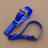 Blue Biothane Terrier Couple Collars