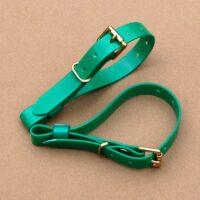 Green Biothane Terrier Couple Collars